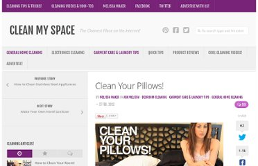 http://cleanmyspace.com/clean-your-pillows/