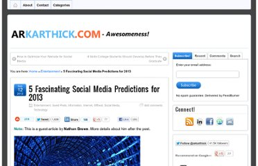 http://arkarthick.com/2012/09/12/social-media-predictions-2013/