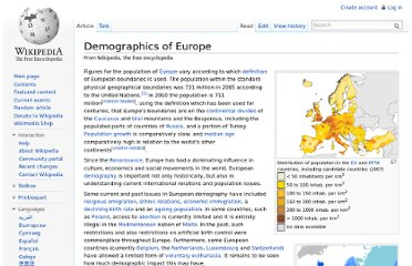 http://en.wikipedia.org/wiki/Demographics_of_Europe
