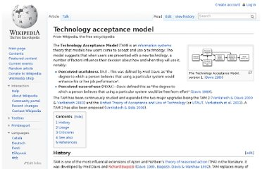 http://en.wikipedia.org/wiki/Technology_acceptance_model