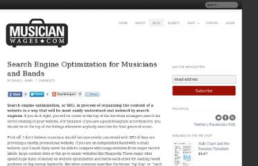 http://www.musicianwages.com/search-engine-optimization-for-musicians-and-bands/