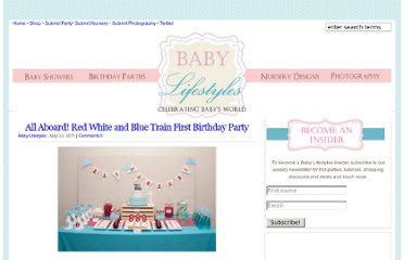 http://www.babylifestyles.com/2011/05/all-aboard-red-white-and-blue-train-first-birthday-party/