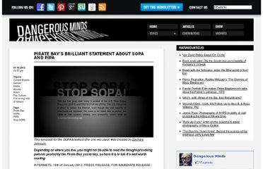 http://dangerousminds.net/comments/pirate_bays_brilliant_statement_about_sopa_and_pipa