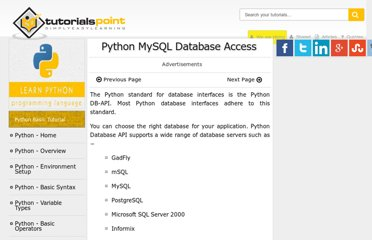 http://www.tutorialspoint.com/python/python_database_access.htm