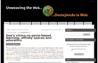 http://estebanromero.com/2012/08/gees-vision-on-game-based-learning-affinity-spaces-and-education/
