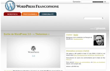 http://www.wordpress-fr.net/blog/sortie-de-wordpress-3-0-thelonious
