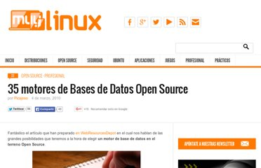 http://www.muylinux.com/2010/03/04/35-motores-de-bases-de-datos-open-source/
