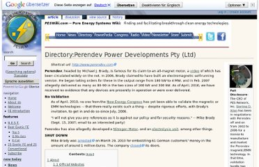 http://peswiki.com/index.php/Directory:Perendev_Power_Developments_Pty_(Ltd)