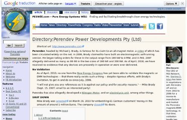 http://peswiki.com/index.php/Directory:Perendev_Power_Developments_Pty_%28Ltd%29