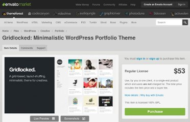 http://themeforest.net/item/gridlocked-minimalistic-wordpress-portfolio-theme/245947/?ref=OrmanClark