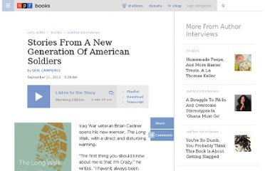 http://www.npr.org/2012/09/11/160889089/stories-from-a-new-generation-of-american-soldiers