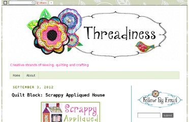 http://threadiness.blogspot.com/2012/09/quilt-block-scrappy-appliqued-house.html