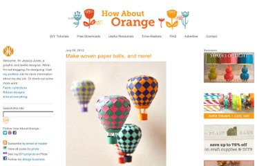 http://howaboutorange.blogspot.com/2012/07/make-woven-paper-balls-and-more.html