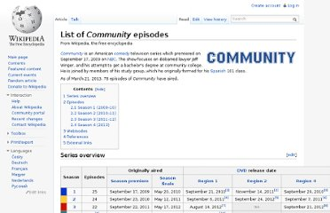http://en.wikipedia.org/wiki/List_of_Community_episodes