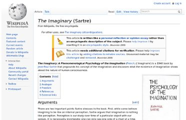 http://en.wikipedia.org/wiki/The_Imaginary_(Sartre)