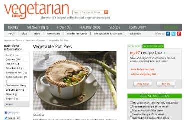 http://www.vegetariantimes.com/recipe/vegetable-pot-pies/