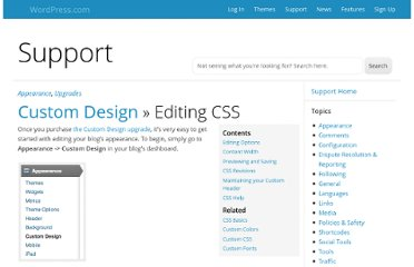 http://en.support.wordpress.com/custom-design/editing-css/