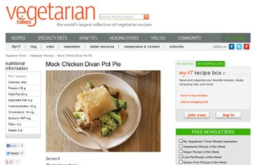 http://www.vegetariantimes.com/recipe/mock-chicken-divan-pot-pie/
