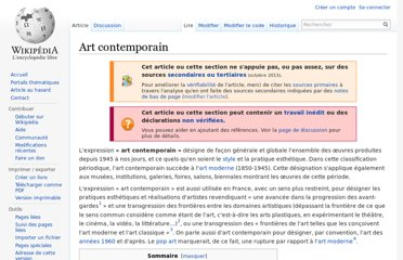 http://fr.wikipedia.org/wiki/Art_contemporain