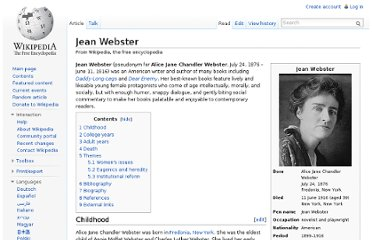 http://en.wikipedia.org/wiki/Jean_Webster