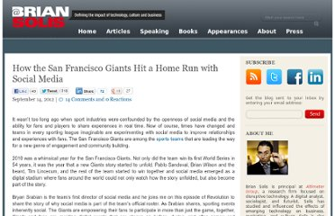 http://www.briansolis.com/2012/09/how-the-san-francisco-giants-hit-a-home-run-with-social-media/