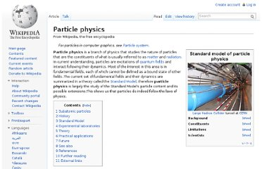 http://en.wikipedia.org/wiki/Particle_physics
