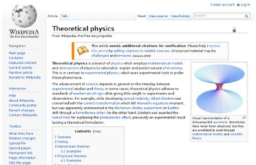 http://en.wikipedia.org/wiki/Theoretical_physics