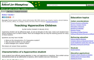 http://www.school-for-champions.com/education/teaching_hyperactive_children.htm