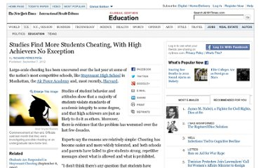 http://www.nytimes.com/2012/09/08/education/studies-show-more-students-cheat-even-high-achievers.html?_r=2ref=education&