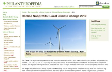 http://www.myphilanthropedia.org/top-nonprofits/bay-area/climate-change/2010