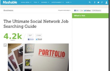 http://mashable.com/2012/09/15/social-network-job-search/