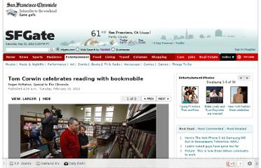 http://www.sfgate.com/entertainment/article/Tom-Corwin-celebrates-reading-with-bookmobile-3199133.php