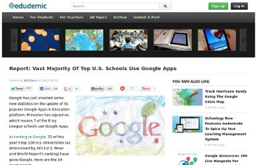 http://edudemic.com/2012/09/report-vast-majority-of-top-u-s-schools-use-google-apps/