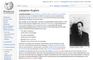 http://nl.wikipedia.org/wiki/Langston_Hughes