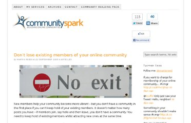 http://www.communityspark.com/dont-lose-existing-members-of-your-online-community/