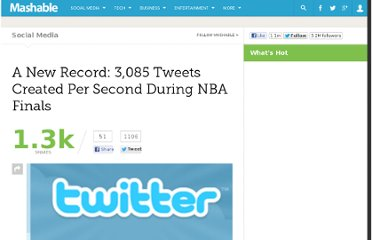 http://mashable.com/2010/06/18/a-new-record-3085-tweets-created-per-second-during-nba-finals/