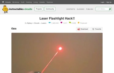 http://www.instructables.com/id/Laser-Flashlight-Hack!!/