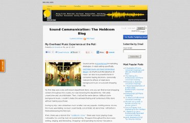 http://soundcommunication.holdcom.com/bid/80419/My-Overhead-Music-Experience-at-the-Mall