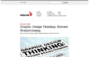 http://www.idapostle.com/graphic-design-thinking-beyond-brainstorming/