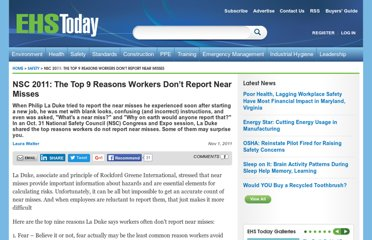http://ehstoday.com/safety/management/9-reasons-near-miss-reporting