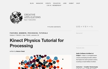 http://www.creativeapplications.net/processing/kinect-physics-tutorial-for-processing/