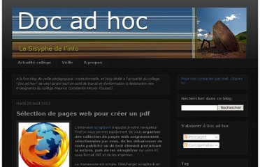 http://doc-adhoc.blogspot.com/2012/08/selection-de-pages-web-pour-creer-un-pdf.html
