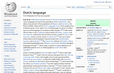 http://en.wikipedia.org/wiki/Dutch_language