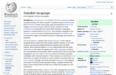 http://en.wikipedia.org/wiki/Swedish_language