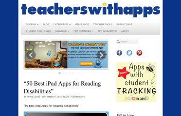 http://teacherswithapps.com/50-best-ipad-apps-for-reading-disabilities/