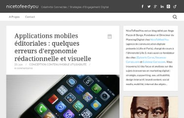 http://www.nicetofeedyou.fr/2012/06/23/applications-mobiles-editoriales-erreurs-ergonomie-redactionnelle-visuelle/