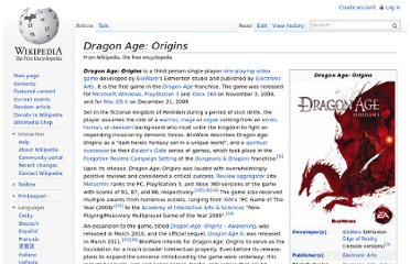 http://en.wikipedia.org/wiki/Dragon_Age:_Origins#Sequel