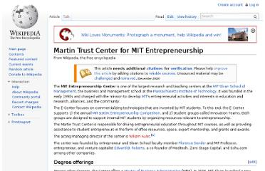 http://en.wikipedia.org/wiki/Martin_Trust_Center_for_MIT_Entrepreneurship