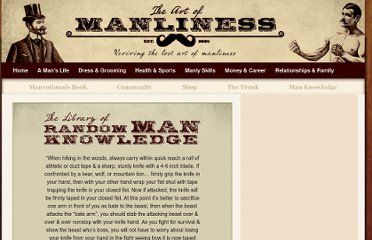 http://artofmanliness.com/man-knowledge/12178