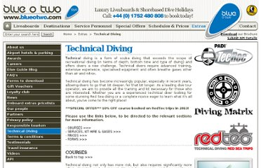 http://www.blueotwo.com/Technical-Diving